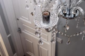small Reception - chandelier